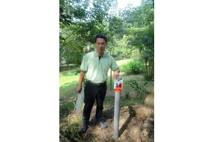 中興大學新化林場引進森林定向越野運動,九十公頃的森林裡設計三十支檢查點,檢查點以三十為基本數。(記者張淑娟攝)