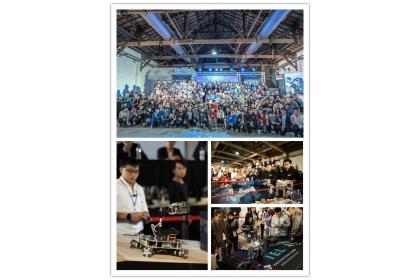 來自各校的機器人好手組隊,24 日參加東京威力科創舉辦的機器人大赛全國總決賽。 TEL/提供