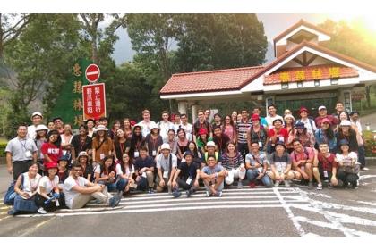 【新頭殼】國際學生高峰會赴惠蓀林場參訪。   中興大學/提供