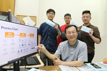 興大楊明德(中)教授團隊開發「最佳口罩配置AI模式」