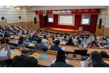 中華民國農學團體聯合年會 「跨域科技、前瞻創新」論壇 12月6日興大登場。(陳浩宇攝)