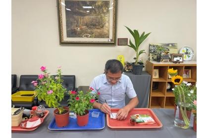 陳錦木老師花卉課程拍攝過程