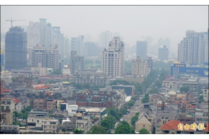 【自由時報】台中空污嚴重能見度差,常為人詬病。