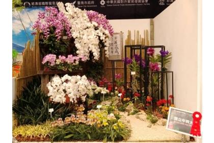 中興大學師生以「古韻淼淼潤南華」作品獲臺灣國際蘭展青農景觀競賽第二奬