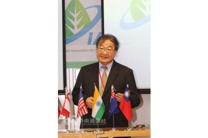 「國際農業永續學會」(IAAS)20日成立,由來自台灣的美國馬里蘭大學前農學院院長、教授魏正毅擔任首任理事長。中央社記者黃自強新加坡攝