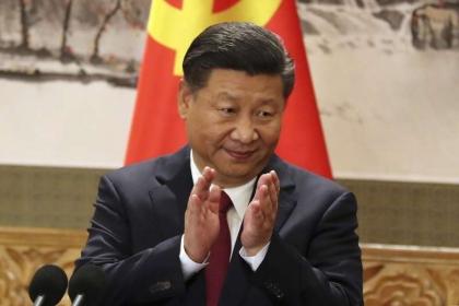 中共國家主席習近平在十九大中強調「六個任何」—絕不允許任何人、任何組織、任何政黨、在任何時候、以任何形式,把任何一塊中國領土從中國分裂出去。(資料照,AP)