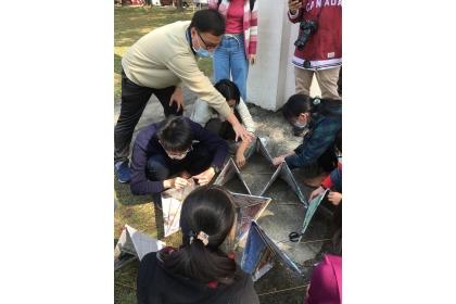 製作四面體風箏