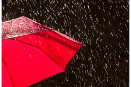 Reenergizing shower: a new triboelectric material could allow your umbrella to charge an electrical device. (Courtesy: iStock/clickhere)
