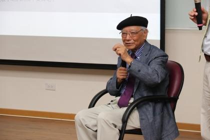 鄭愁予6月8日以「詩人與生命科學的對話」為題分享創作。