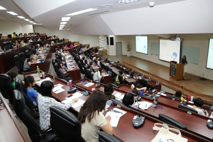 中興大學圖書館6月7日舉辦資訊圖像化實務工作坊,來自全國58所大專校院及公共圖書館,約150位圖資人員參與