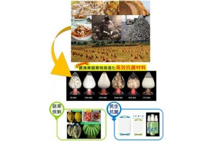 農漁業廢棄物再生材料技術。 主辦單位/提供