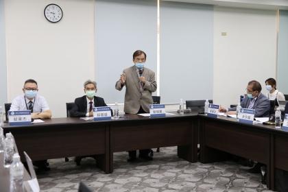 蔡明憲前國防部長致詞。