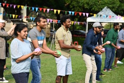 斯里蘭卡在台學生齊聚興大慶新年,活動中安排斯里蘭卡的傳統遊戲讓大家同歡。