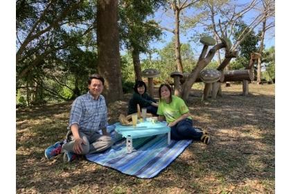 中興大學新化林場今年慶祝設場百年,開放市民野餐趴。記者吳淑玲/攝影