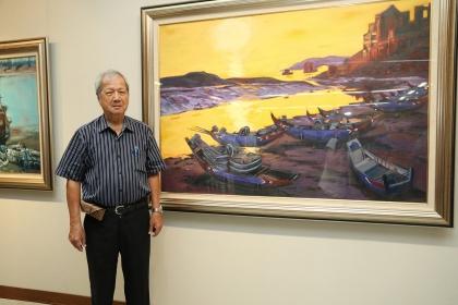 知名畫家倪朝龍即日起至10月20日在興大藝術中心舉辦「愛的行板--2017倪朝龍創作展」