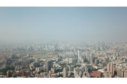 台中空汙空拍。(示意圖/台灣健康空氣行動聯盟提供)