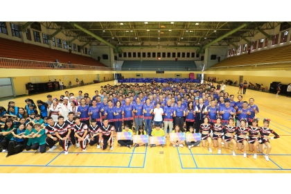 Three 100-year-old schools in Taichung City  holding a joint sports meet  at National Chung Hsing University