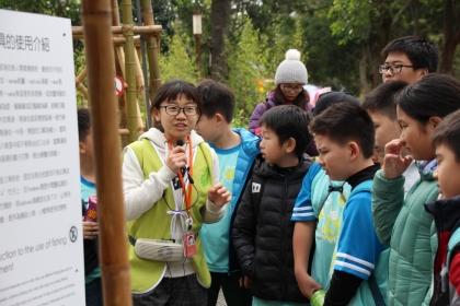 水保系學生導覽解說后里園區原生秘境