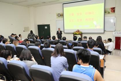 台中市副市長張光瑤以「打造宜居X移居城市」為題進行專題演講