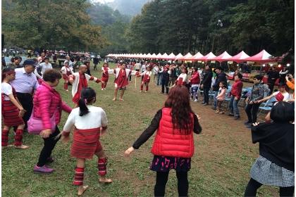 興大惠蓀林場希望之樹點燈-部落原住民舞蹈