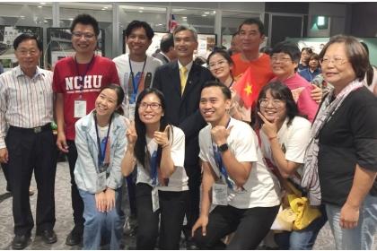 中興大學邀請新南向國家學子來台,和台灣學生一同參加國際洄游駐村共學計畫。(中興大學提供)