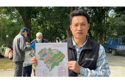 【聯合報】中興大學新化林場場長吳佾鴻表示,「森林定向越野場域」佔地90公頃,很適合學校及公司行號來挑戰。記者吳淑玲/攝影