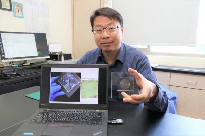 中興大學材料系薛涵宇助理教授開發出新穎的濕式釋放誘導皺褶生成技術。
