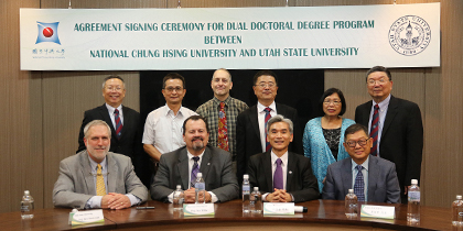 【公關組】中興大學與猶他州立大學簽訂博士雙聯學位