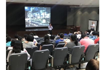 9月18日舉辦「綠川興城-園道植生綠化規劃座談會議」,廣邀師生與會。