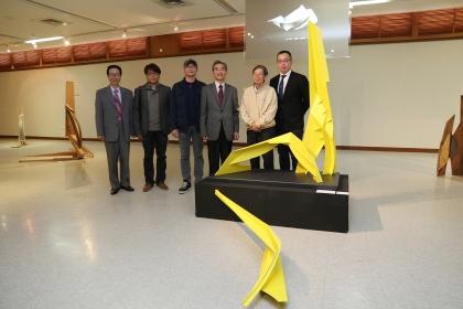 楊上峰的作品「躍升」將捐給興大,作為校園裝置藝術品。