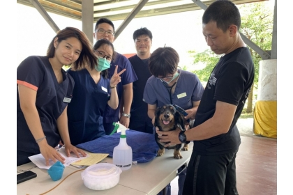 【自由時報】中興大學USR團隊首次前進金門,年輕成員對離島服務工作充滿熱忱。(圖由金門防疫所提供)