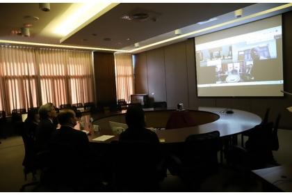 中興大學與姊妹校印度密索藍大學舉行線上締約儀式。