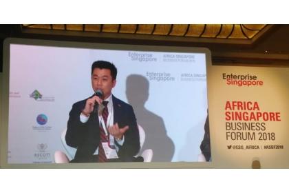 葉衛綺參加新加坡非洲企業論壇。