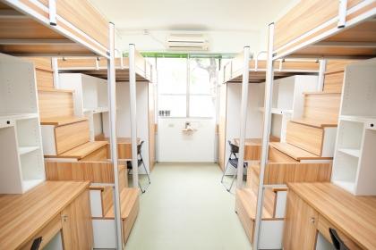 興大男宿禮齋內裝設備再升級,日式和風的裝潢風格,營造家的溫馨舒適感。