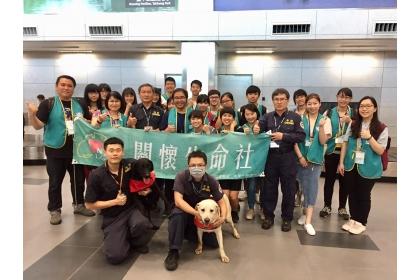 興大關生社4月25日至台中航空站進行海關緝毒犬執勤演練參訪