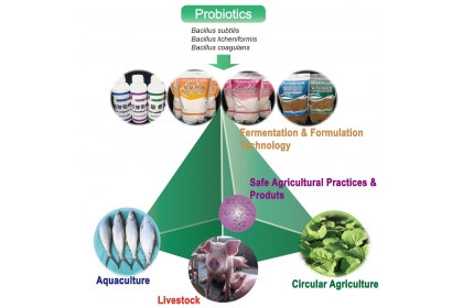 Fig. 1 The transdisciplinary team from the Department of Plant Pathology, the Pesticide Residue Analysis Center at National Chung Hsing University, and the Agricultural Technology Research Institute jointly discover multi-industries application potential