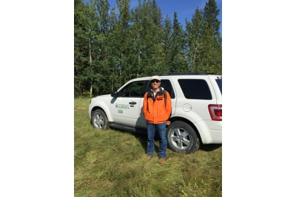 沈宗荏教授2016年至加拿大進行森林樣地調查