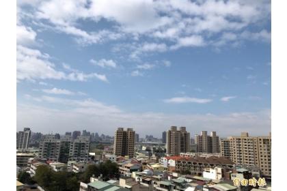 【自由時報】台中改善空污已有顯著成效,今天上午可以看到藍天白雲。(記者黃鐘山攝)